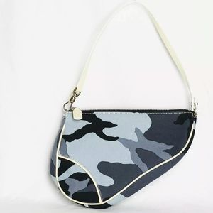 Vintage Dior John Galliano mini Saddle bag - camo